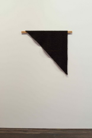 Helen Mirra, Waulked Triangle, NH01/CT04d, 2014, Marianne Boesky Gallery
