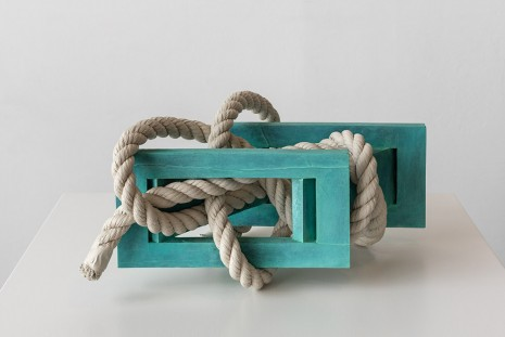 Ricky Swallow, Skewed Open Structure with Rope #3 (turquoise), 2015, David Kordansky Gallery
