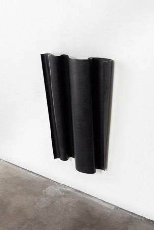 Ricky Swallow, Flag/Tipped (soot), 2015, David Kordansky Gallery