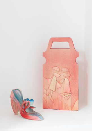 Andreas Slominski, Shoe and handbag, 2011, Sadie Coles HQ