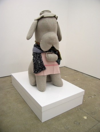 Cosima von Bonin, UNTITLED (THE GREY SAINT BERNARD WITH BOX), 2006, Petzel Gallery