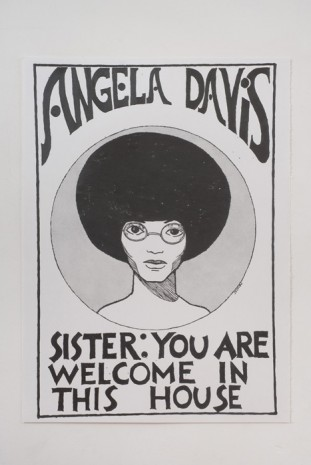 Andrea Bowers, Angela Davis-You Are Welcome in This House (In Honor of Julian Madyun), 2011, Andrew Kreps Gallery