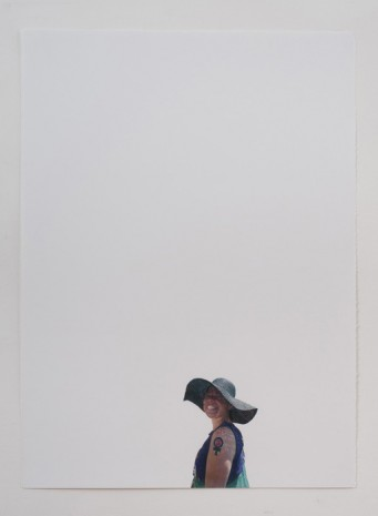 Andrea Bowers, Woman With Straw Hat and Feminist Fist Tattoo (May Day March, Los Angeles, 2011), 2011, Andrew Kreps Gallery