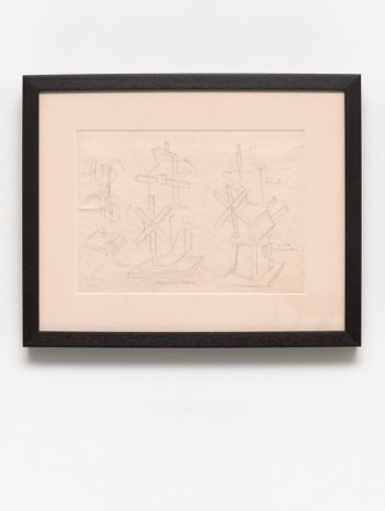 Sandú Darié, Sketch for Structure, ca. 1950s, David Zwirner