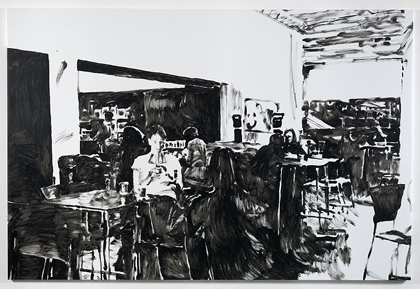 Merlin Carpenter, TATE CAFÉ 2, 2011, Simon Lee Gallery