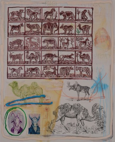 David Godbold, Untitled (Animals), 2015, Kerlin Gallery