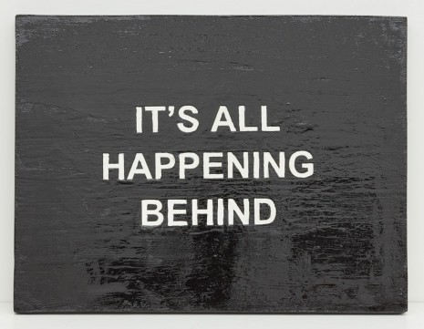 Laure Prouvost, IT'S ALL HAPPENING BEHIND, 2015, carlier I gebauer