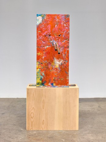 Mark Grotjahn, Untitled (Orange over Mountain Walk, Italian Mask M30.g), 2014, Anton Kern Gallery