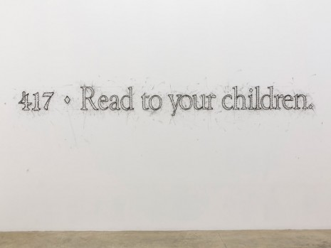 Tony Lewis, 417 ♦ Read to your children., 2015, Massimo De Carlo