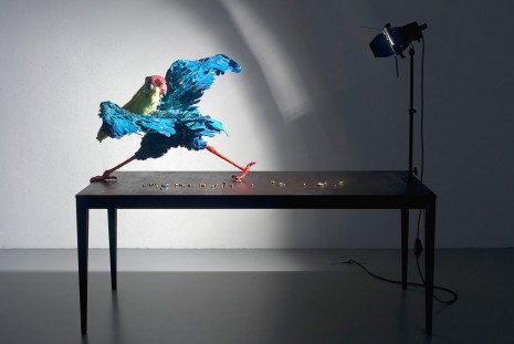 Nathalie Djurberg, A Thief Caught in the Act (Blue Pelican), 2015, Giò Marconi
