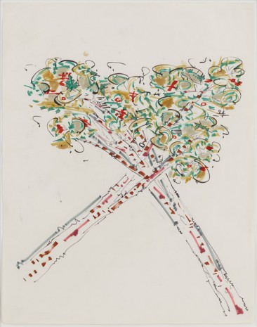 Gordon Matta-Clark, Crossed Trees, 1972-1973, David Zwirner