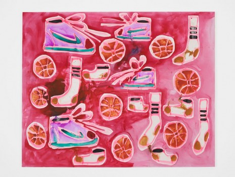 Katherine Bernhardt, Nikes, Socks, Basketballs, 2015, Carl Freedman Gallery