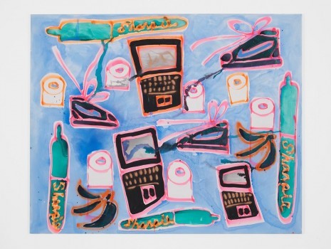 Katherine Bernhardt, Sharpies, Dell, Nikes, Toilet Paper, 2015, Carl Freedman Gallery