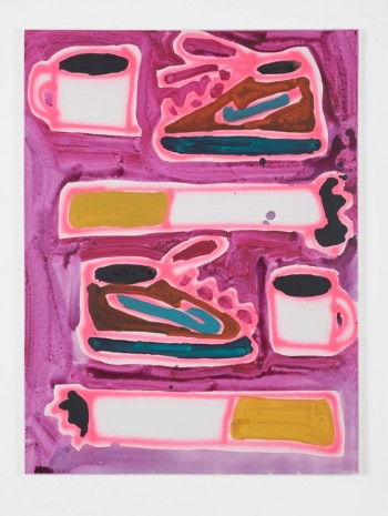 Katherine Bernhardt, Nikes, Coffee, and Cigarettes, 2015, Carl Freedman Gallery