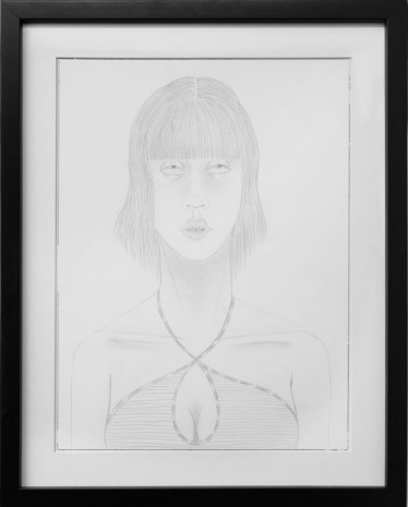 Ed Templeton, UNTITLED (girl with straight bangs, braces), 2015, Tim Van Laere Gallery