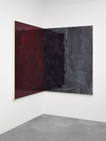 Jim Hodges, Untitled (Shadow Ruby Red/Black), 2014, Gladstone Gallery