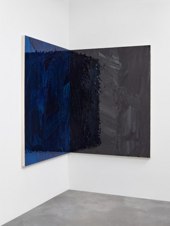 Jim Hodges, Untitled (Shadow Lamberts blue turquoise/black), 2014, Gladstone Gallery