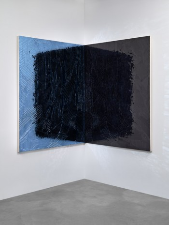 Jim Hodges, Untitled (Shadow light Blue/black), 2015, Gladstone Gallery