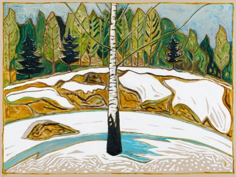 Billy Childish, birch wood, 2015, Lehmann Maupin