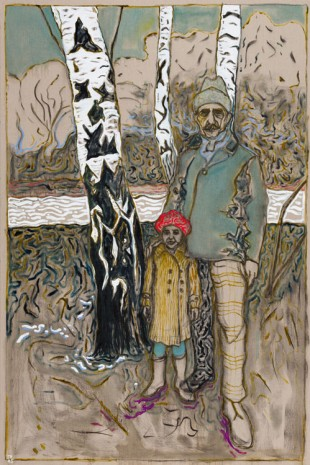 Billy Childish, 3 birch trees, 2015, Lehmann Maupin