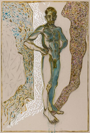 Billy Childish, nude self portrait, 2015, Lehmann Maupin