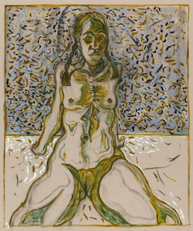 Billy Childish, girl with plaits, 2015, Lehmann Maupin