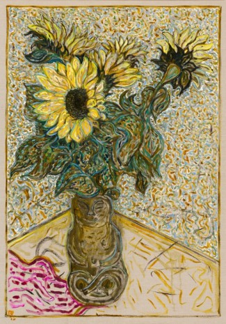 Billy Childish, sunflowers, 2015, Lehmann Maupin