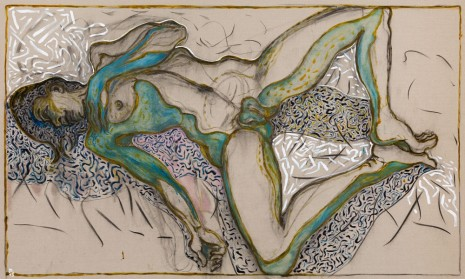 Billy Childish, nude reclining, 2015, Lehmann Maupin