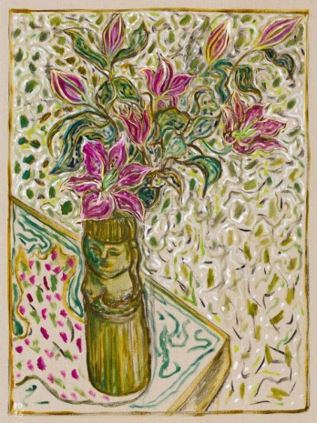 Billy Childish, Lillys in pot, 2015, Lehmann Maupin