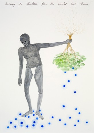 NS Harsha, Surviving on blueberries from the inverted tree!, 2012, Victoria Miro Gallery