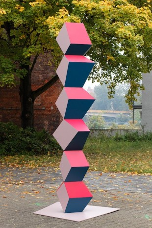 Angela Bulloch, Heavy Metal Stack; Red, Cardboard & Blue, 2015, Galerie Micheline Szwajcer (closed)