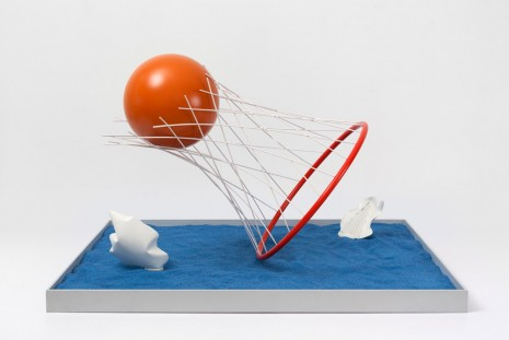 Claes Oldenburg & Coosje van Bruggen, Proposed Sculpture for the Harbor of Stockholm, Sweden, Caught and Set Free, Model, 1998, Paula Cooper Gallery