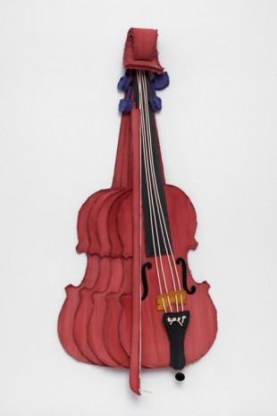 Claes Oldenburg & Coosje van Bruggen, Sliced Stradivarius – Rose, 2003, Paula Cooper Gallery