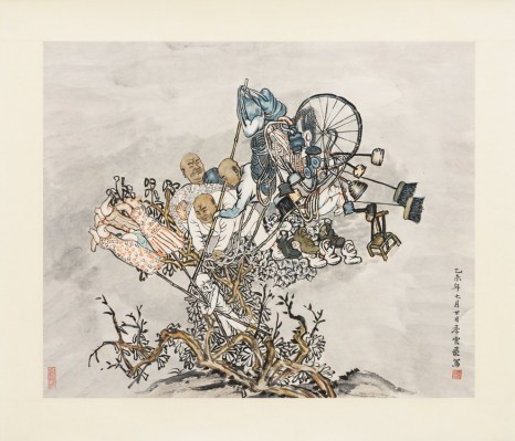 Yun-Fei Ji, The vendors and the wind, 2014, Zeno X Gallery