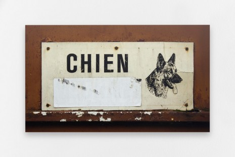 Claire Fontaine, Untitled (Chien), 2015, Air de Paris