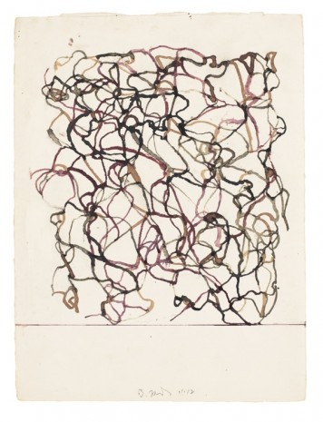 Brice Marden, African Drawing 14, 2011-2012, Matthew Marks Gallery