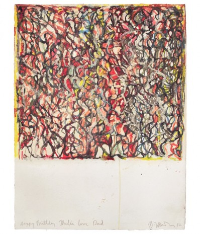 Brice Marden, African Drawing 13, 2012, Matthew Marks Gallery