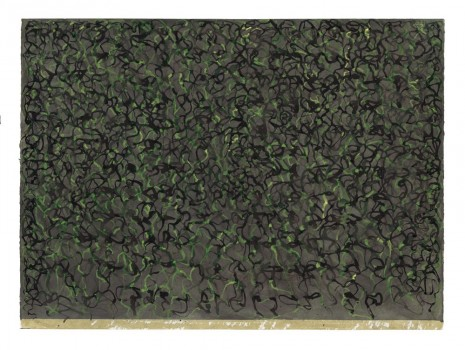 Brice Marden, Sutra Drawing, 2010-2011, Matthew Marks Gallery