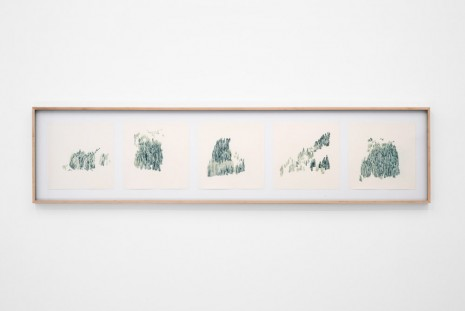 Irene Kopelman, Tree line davos two slopes from below, 2014, LABOR