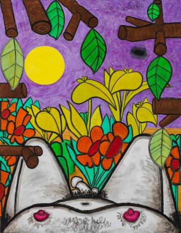 Carroll Dunham, Now and Around Here (1), 2011-2015, Gladstone Gallery