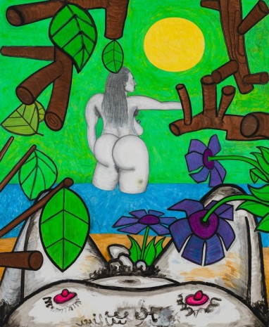 Carroll Dunham, Now and Around Here (2), 2014-2015, Gladstone Gallery