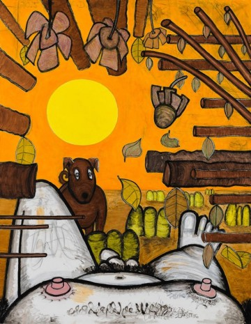 Carroll Dunham, Now and Around Here (3), 2015, Gladstone Gallery