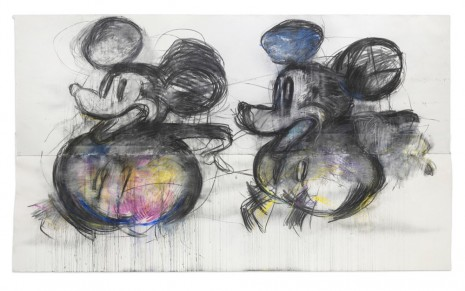 Joyce Pensato, Double Mickey, 2015, Capitain Petzel