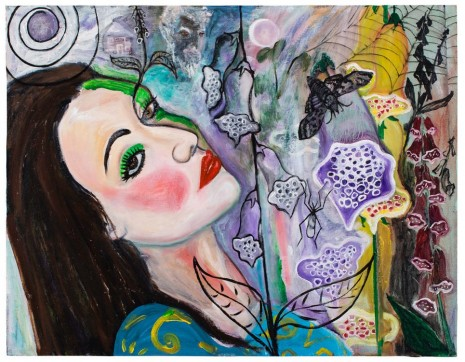 David Harrison, Flowers of Evil, Foxglove Fairy Moonbathing, 2015, Victoria Miro Gallery