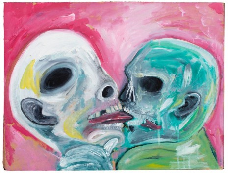 David Harrison, Love Means Never Having to Say You're Ugly, The Kiss, 2015, Victoria Miro Gallery