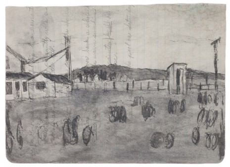 James Castle, Untitled (Farmscape), n.d., Frith Street Gallery