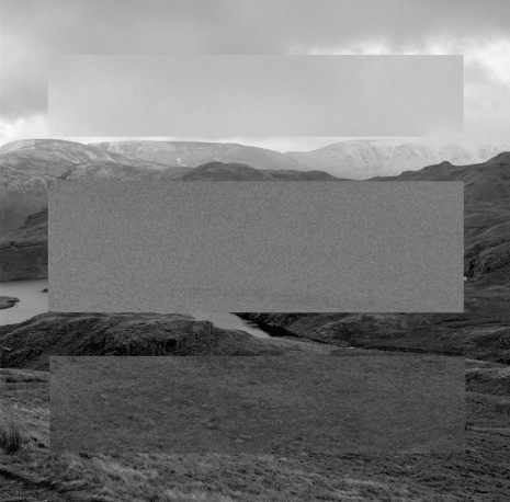 John Hilliard, February Landscape In Three Greys (Sky, Lake And Mountain), 2015, Galerie Max Hetzler