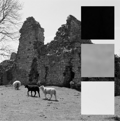 John Hilliard, Pendragon Castle Rendered In Grey Scale, 2015, Galerie Max Hetzler