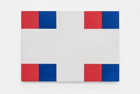 Albert Mertz, Untitled (r/b on white), 1982, Croy Nielsen