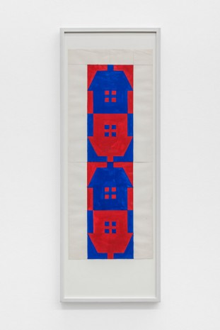 Albert Mertz, Untitled (Four houses), 1984, Croy Nielsen